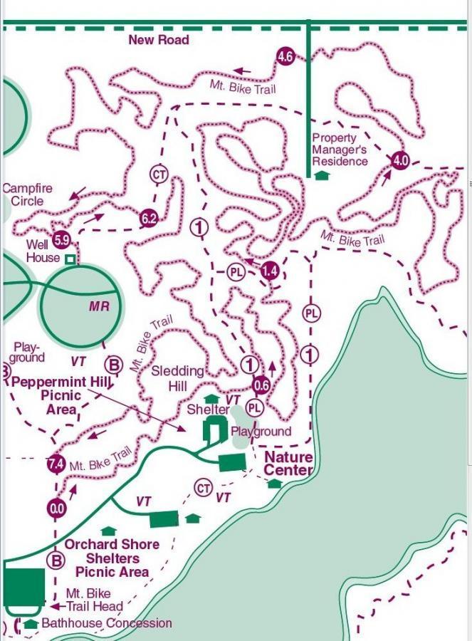 Potato Creek State Park Mountain Bike Trail In Lakeville