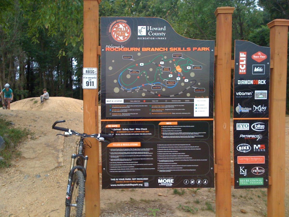 Rockburn Branch Park Mountain Bike Trail In Ellicott City