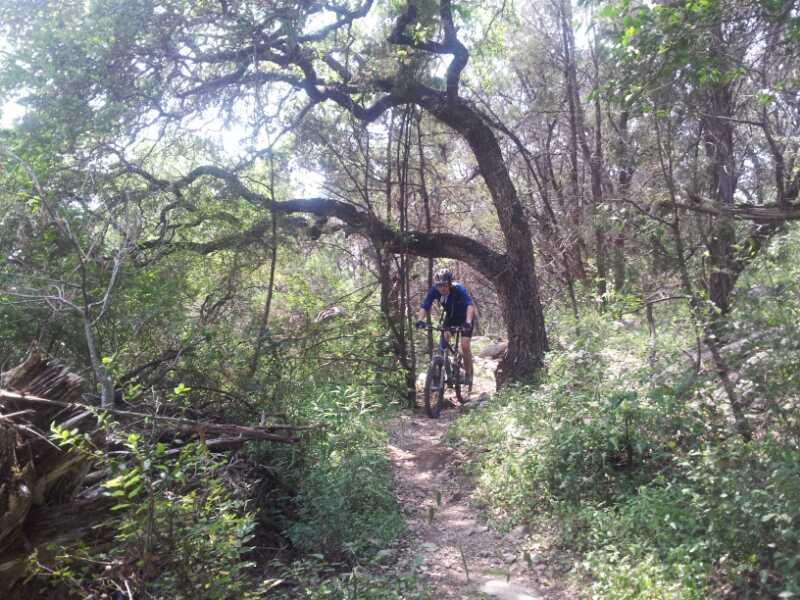 Salado Creek Mountain Bike Trail In San Antonio Texas