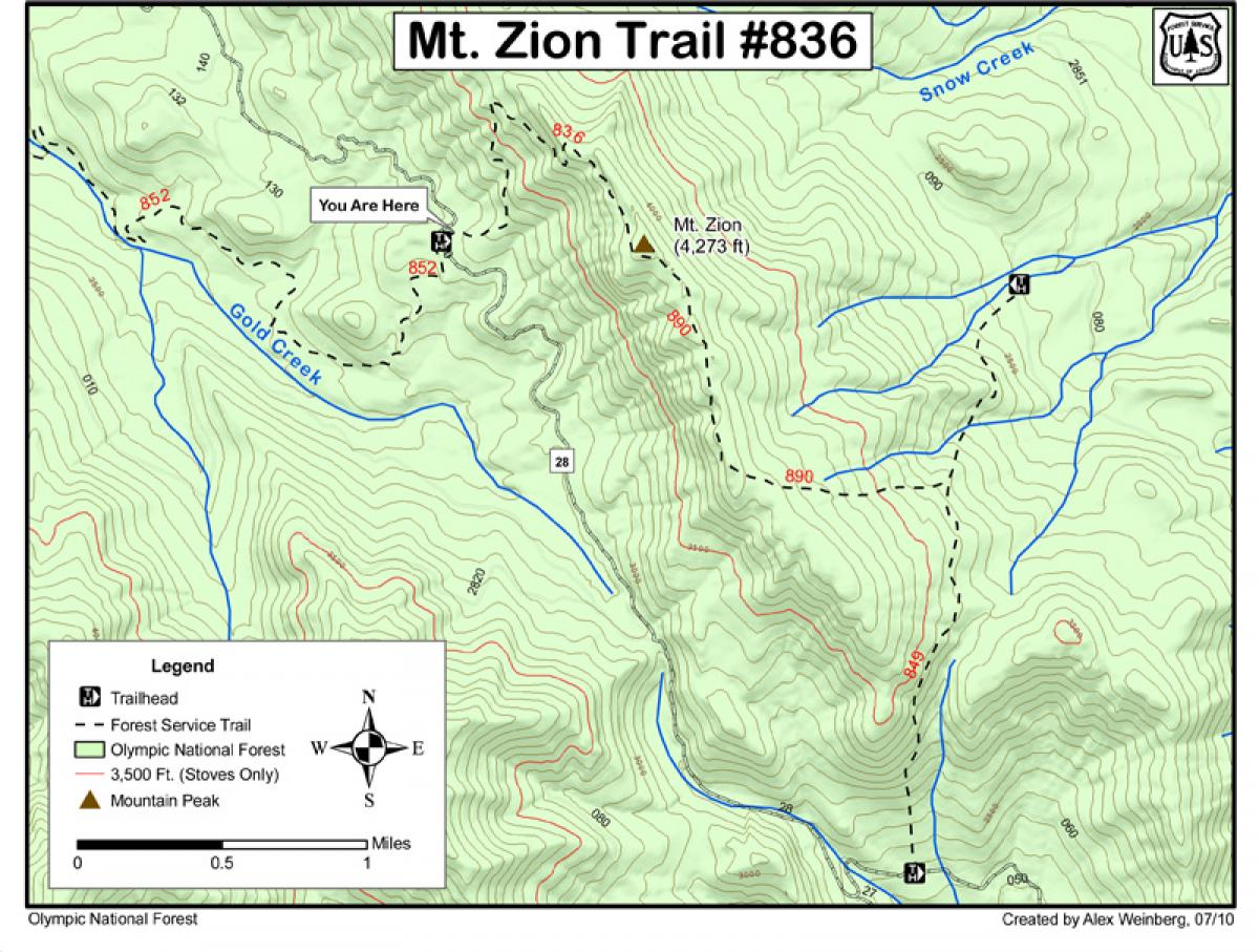 Mt. Zion / Trail #836 Mountain Bike Trail in Quilcene ...