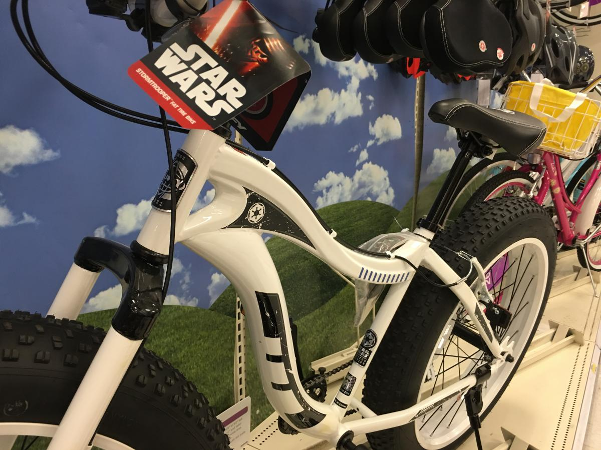 77f228bb161 Spotted this Star Wars edition fat bike at Target this week. There's a  white Storm Trooper edition (pictured) and also a black version.