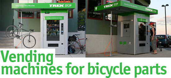 Bike Parts Vending Machine From Trek Singletracks Mountain Bike News