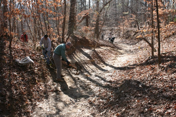 Singletracks Trail Work Day Lake Hartwell Ga Sat April 23
