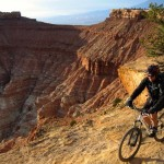 """Rightious Singletrack."" Trail: Gooseberry Mesa, Hurricane, Utah. Photo: david_darling."