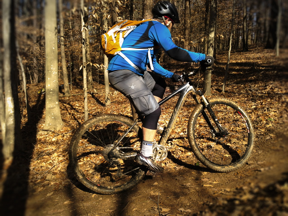 Winter mountain biking in Georgia on the Broadaxe.