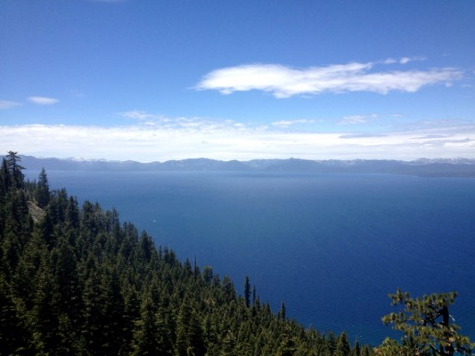 Looking down on Lake Tahoe from the Flume Trail.