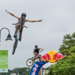 Freestyle bikes competition at the Dominion Riverrock Festival in Richmond, VA. Photo: Jesse Peters.