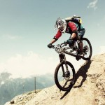 """Himalayan Rides' Mandil Pradhan taking on the Megavalanche at Alp d'Huez on a Banshee Rune."" Photo: Himalayan Rides."