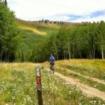 Biking across PCMR