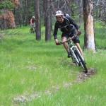 """Near the top of Sheep Creek Trails big descent."" North Fork, Idaho. Photo: chukt."