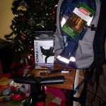 """For Christmas, Santa brought me a TekTro Eclipse Levers (MT2.1), Coleman Hydration Backpack 8 liters, Schwinn Floor Pump, and a Single speed Spanner tool! Ready for the trails!"" Photo: Juan J Hernandez"