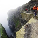 Hans Rey riding the cliffs of Moher in Ireland.
