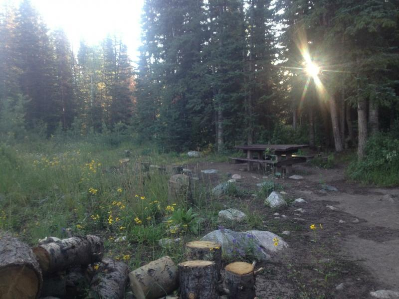 Campsite at Dry Lake Campground