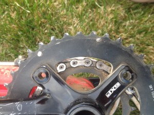Apparently the teeth on the chainring are supposed to be pointy.