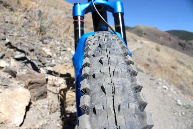 Maxxis High Roller II up front.