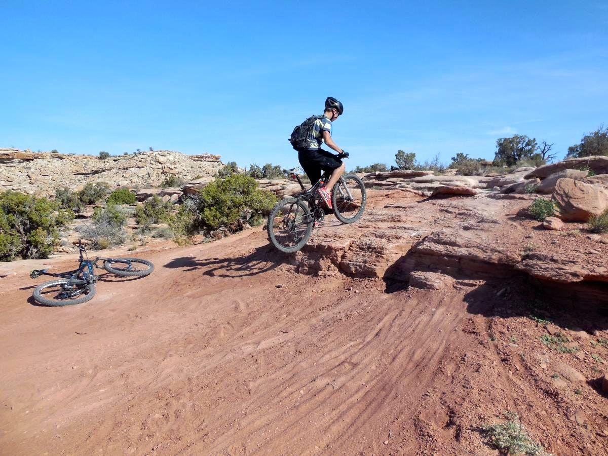 One of the many step ups heading out on the Sovereign Trail.
