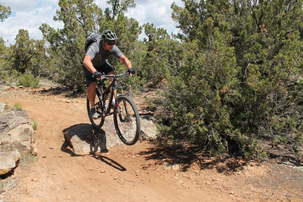 The Instinct is just as happy to huck as to roll. Trail: Oil Well Flats, Canon City, CO
