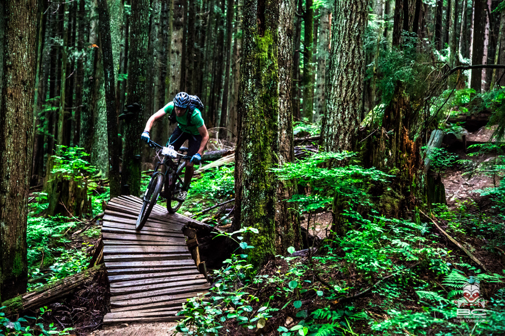 The enduro segment came down the Espresso trail on Fromme Mountain.