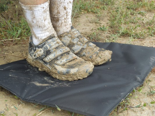 The changing mat proved to be of significant benefit after the muddy Rumble at 18 Road