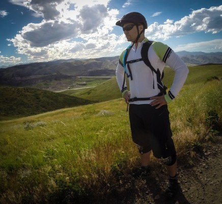 "Hydration pack straps help keep ""the bulge"" (see below) at bay...and again the fit and fabric are second to none."