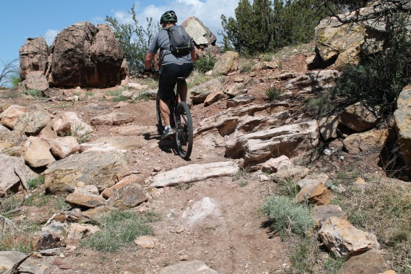 The Instinct excelled in ledgy climbs. Trail:  Oil Well Flats, Canon City, CO