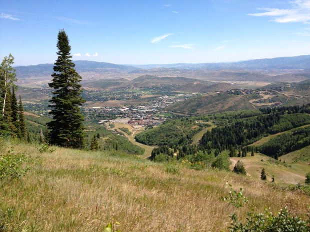 Looking down on Park City from the Mid-Mountain Trail. Photo: dardoin