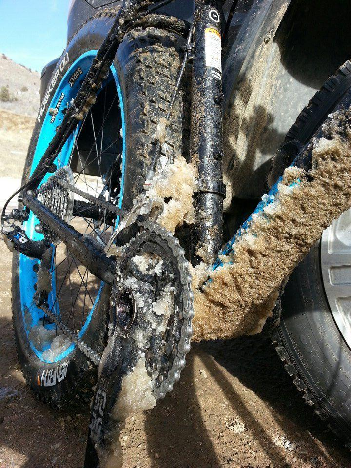 Riding in wet, muddy, or icy conditions require more frequent maintenance and diligent drivetrain care.