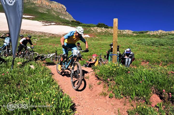 Dropping into Stage 1. Photo: Nick Ontiveros / Big Mountain Enduro