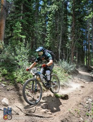 Shredding on the GT Force. Photo: Lauren Forcey, DownhillColorado.com