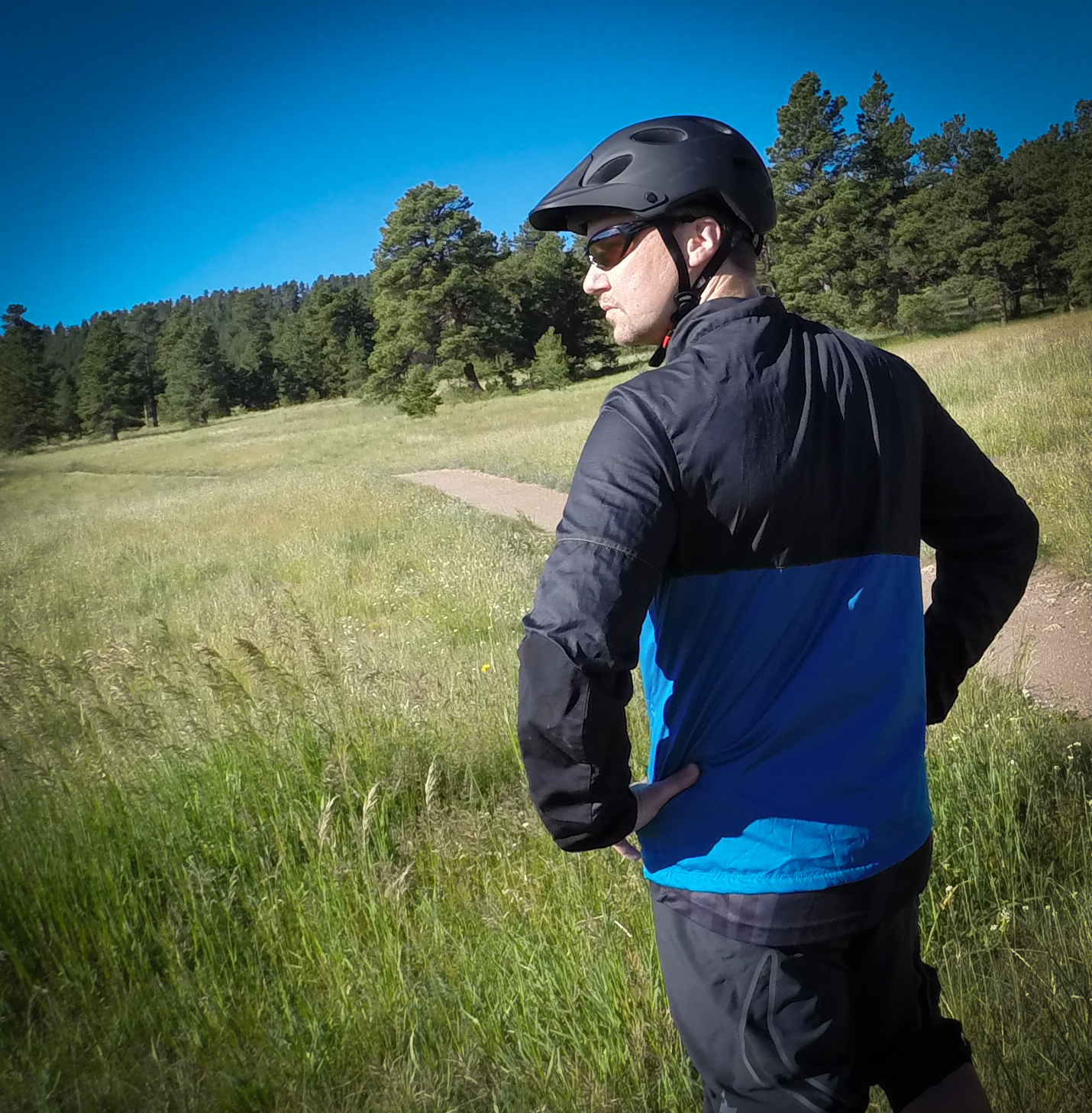 The Barrier has ample side pockets and lacks traditional back pockets that won't catch on your hydration pack\