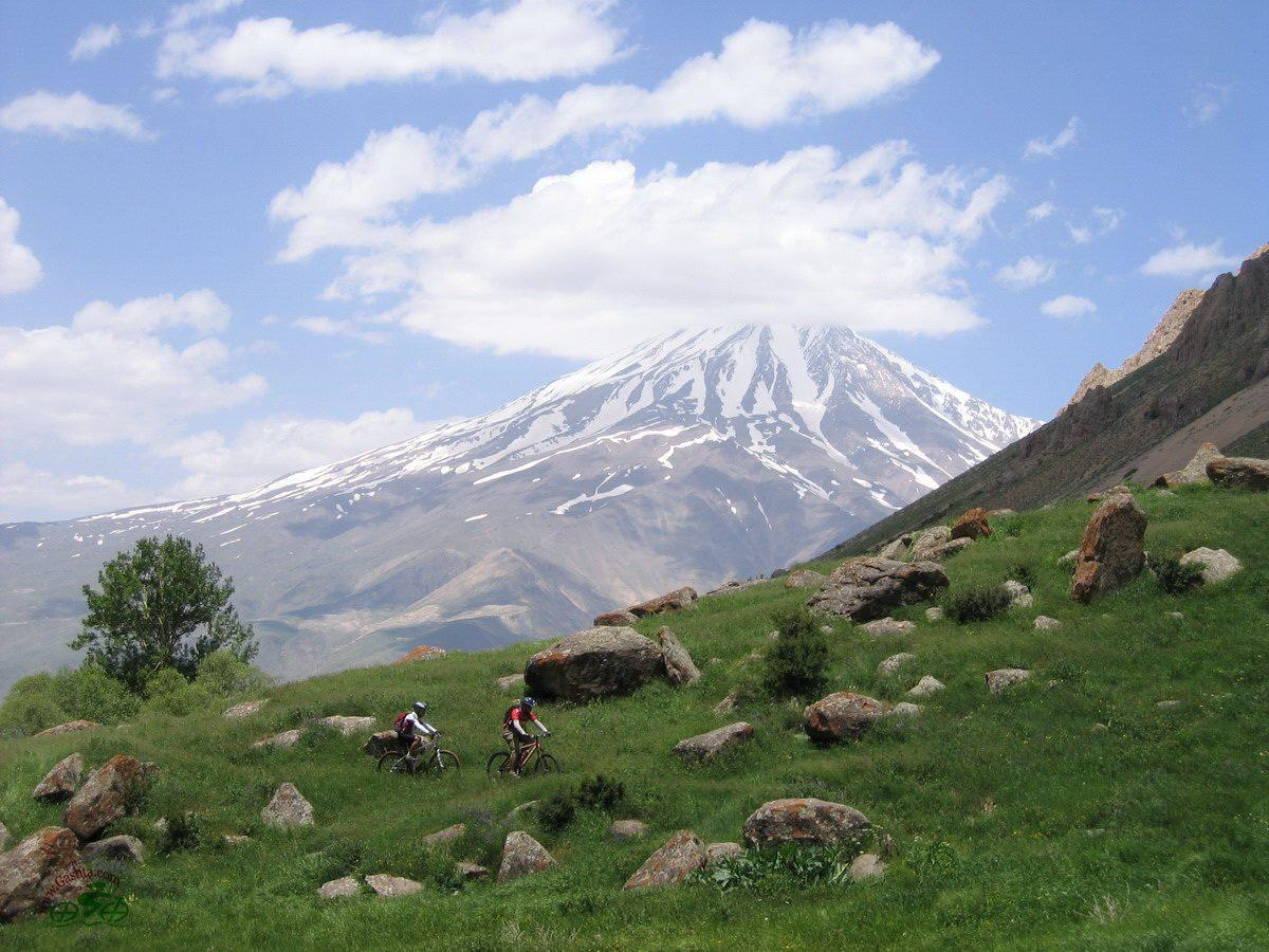 """Damavand Mountain, Iran."" Photo: Gashta Mountain Bike Tours"