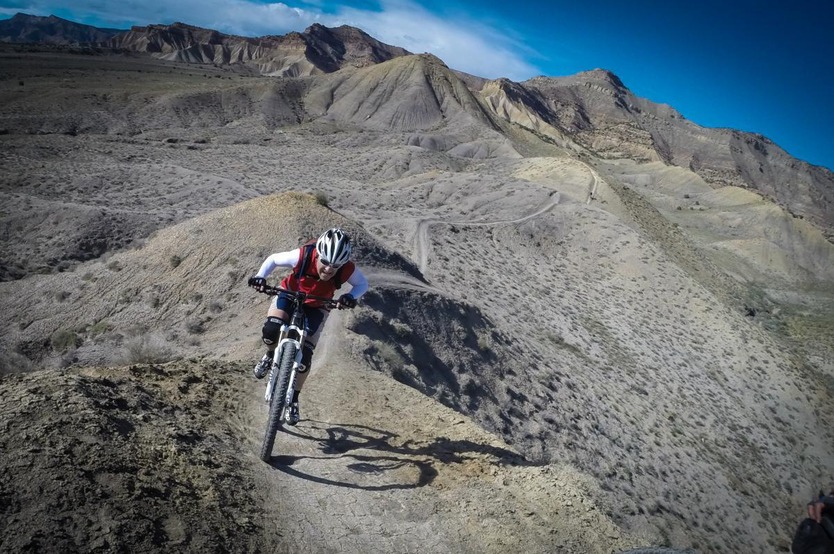 Trail: Zippety Do Dah, 18 Road, Fruita, CO. Rider: Steve W. Photo: Delphinide.