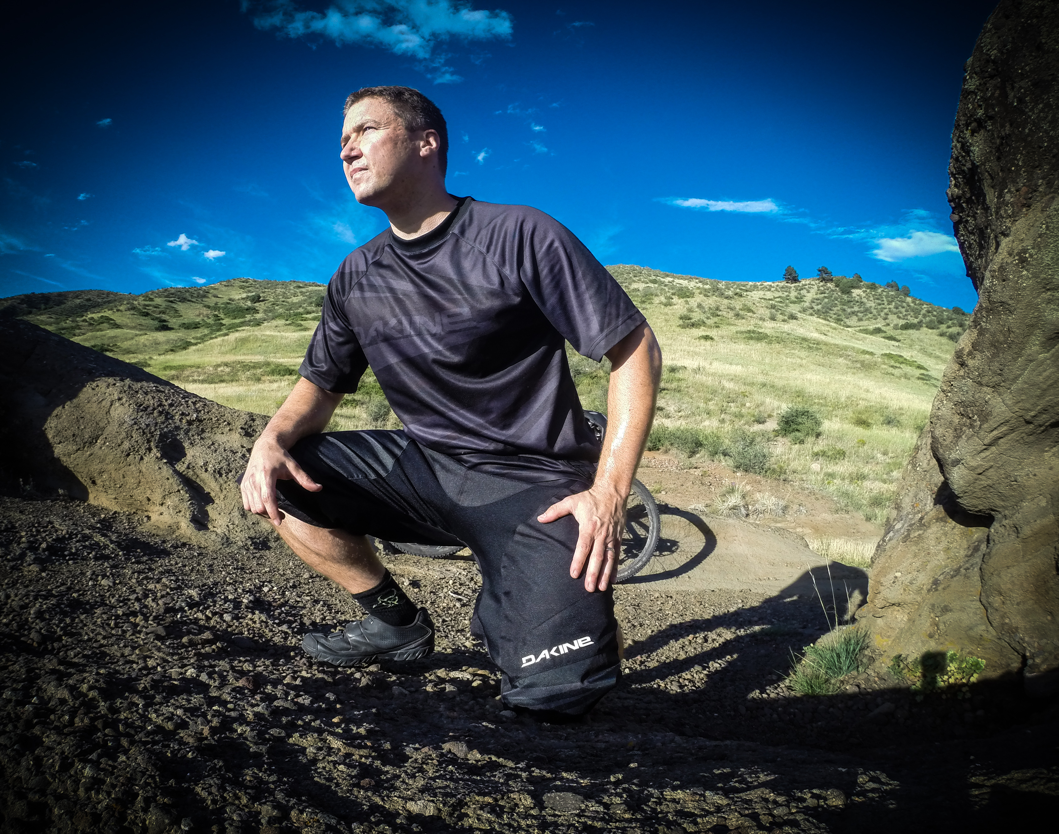 The Descent jersey and short pair well together and provide all day downhill comfort and protection