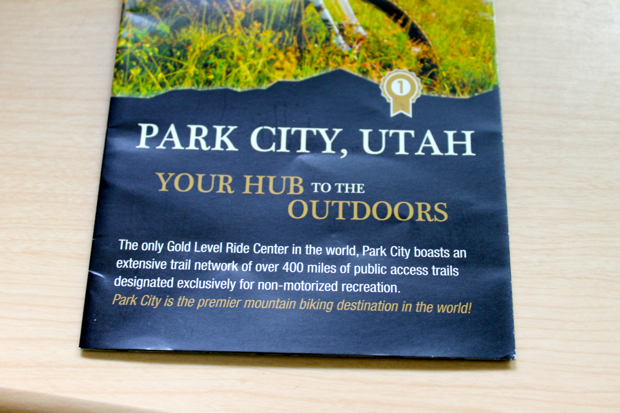 A different Park City claim, via the Park City trail map.