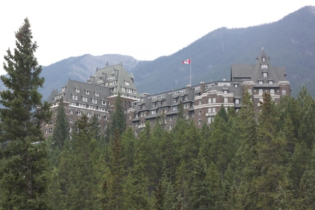The Fairmont Banff Springs sits overlooking the Bow River and is the start of the Tour Divide.
