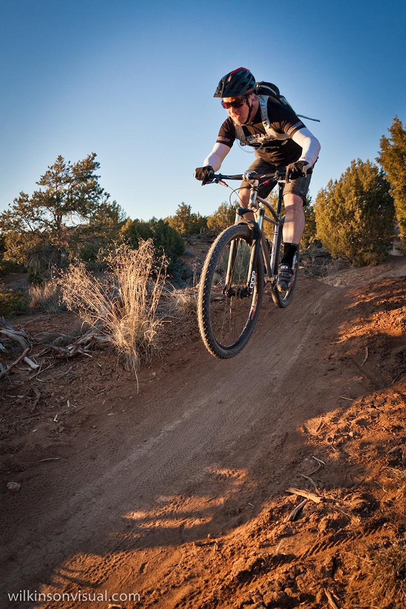 """""""Patrick hits a jump at the ribcage."""" Trail: Phil's World, Cortez, CO. Photo: MikeWilkinson"""