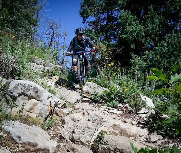 The trail can get chunky at times, so stay on your toes!