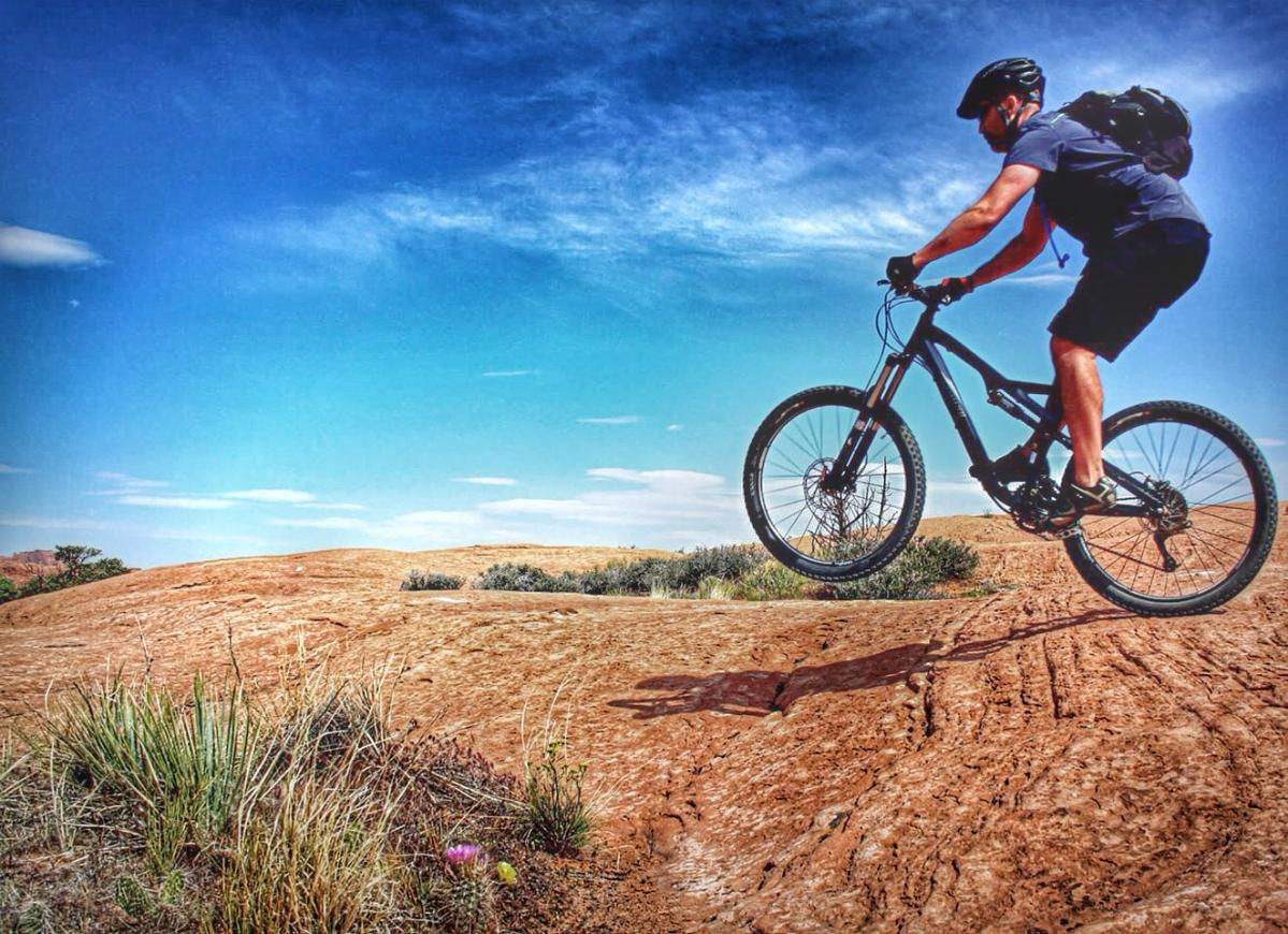 Trail: Slickrock, Moab, Utah. Photo: tcbroncs
