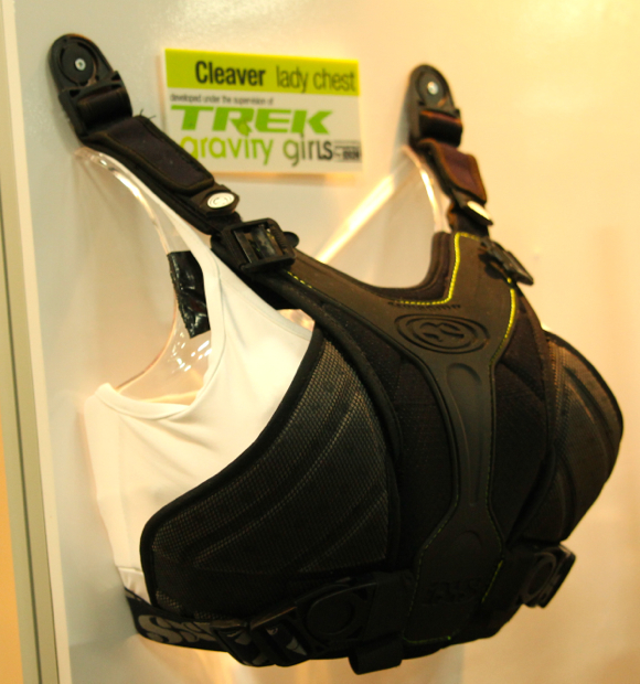 The Cleaver Lady Chest protector, developed in conjunction with the Trek Gravity Girls.