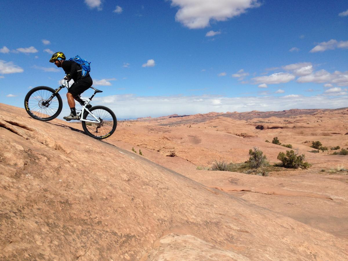"""First ride at Slickrock. Nothing like MN."" Moab, Utah. Photo: Ben Robetor"