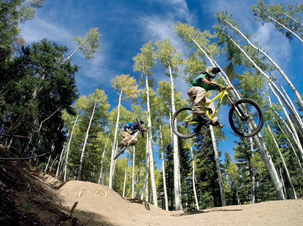 The brand-new Flying Diamond downhill trail. Photo courtesy of Steamboat Bike Park.