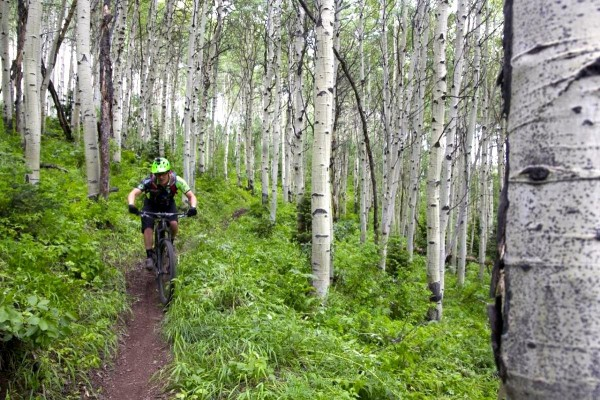 Trail: Empire Link, Park City, Utah. Rider: The man himself, Chips Chippendale of Singletrack Magazine. Photo: Jeff.