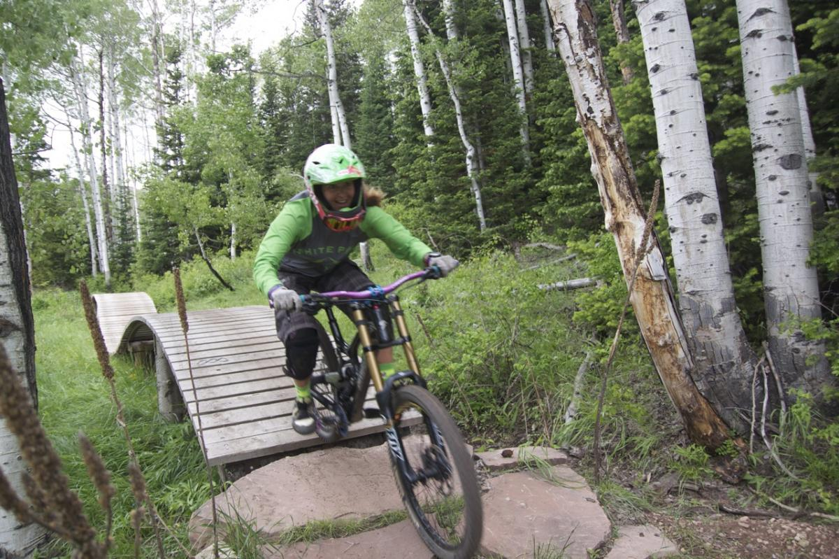 """Flying Salmon trail with White Pine Touring and Sam from Canyons Resort."" Park City, Utah. Photo: Jeff."