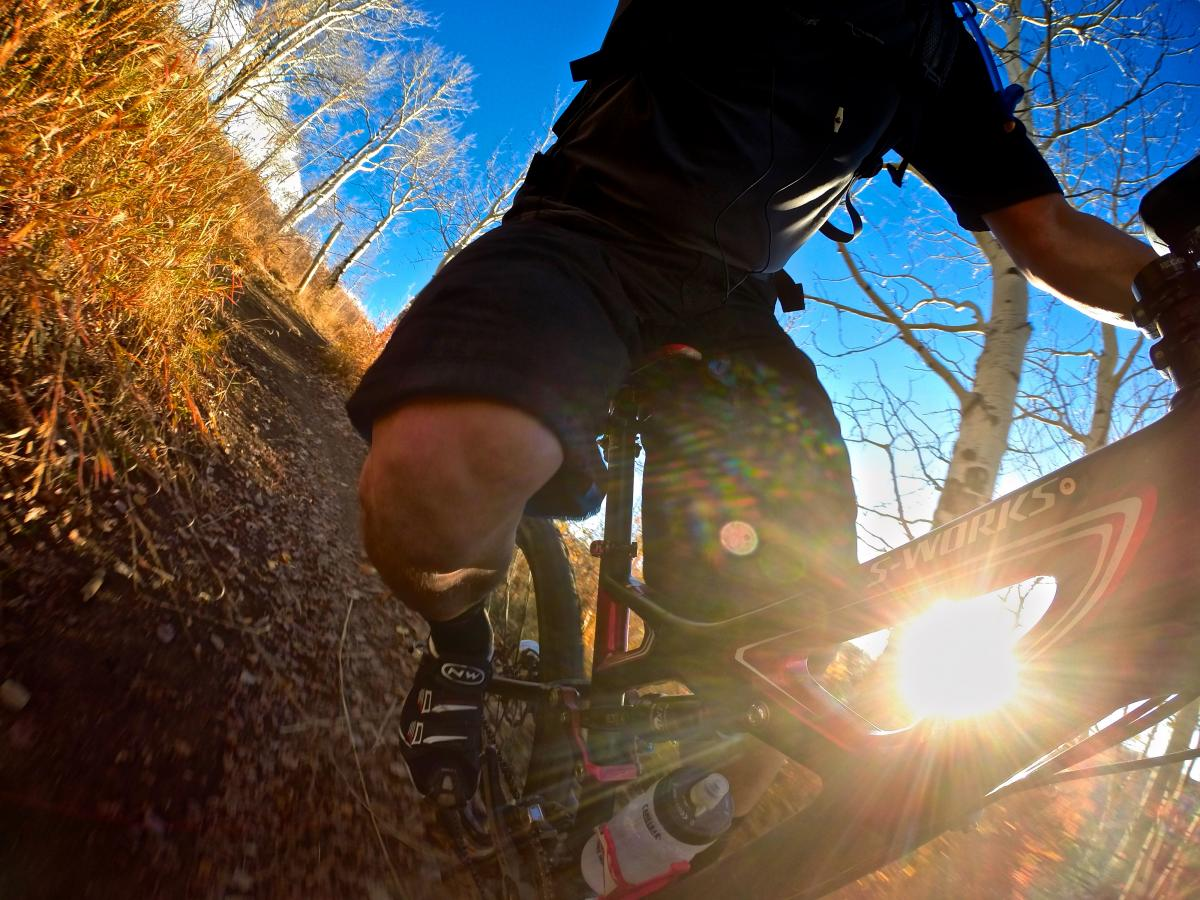 """Late afternoon sunsplash on the Arrowhead DH."" Beaver Creek Ski Resort, Avon, Colorado. Photo: Erik Proano."