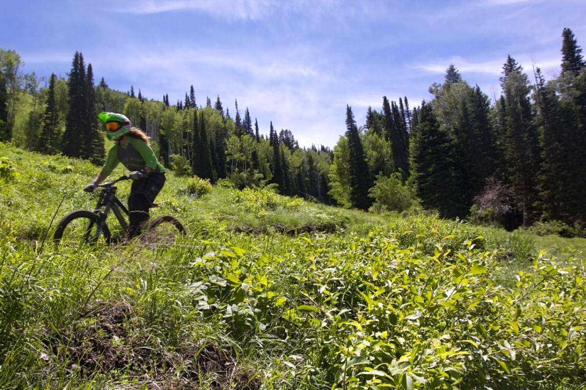 The Canyons Bike Park, Park City, Utah. Photo: Jeff.