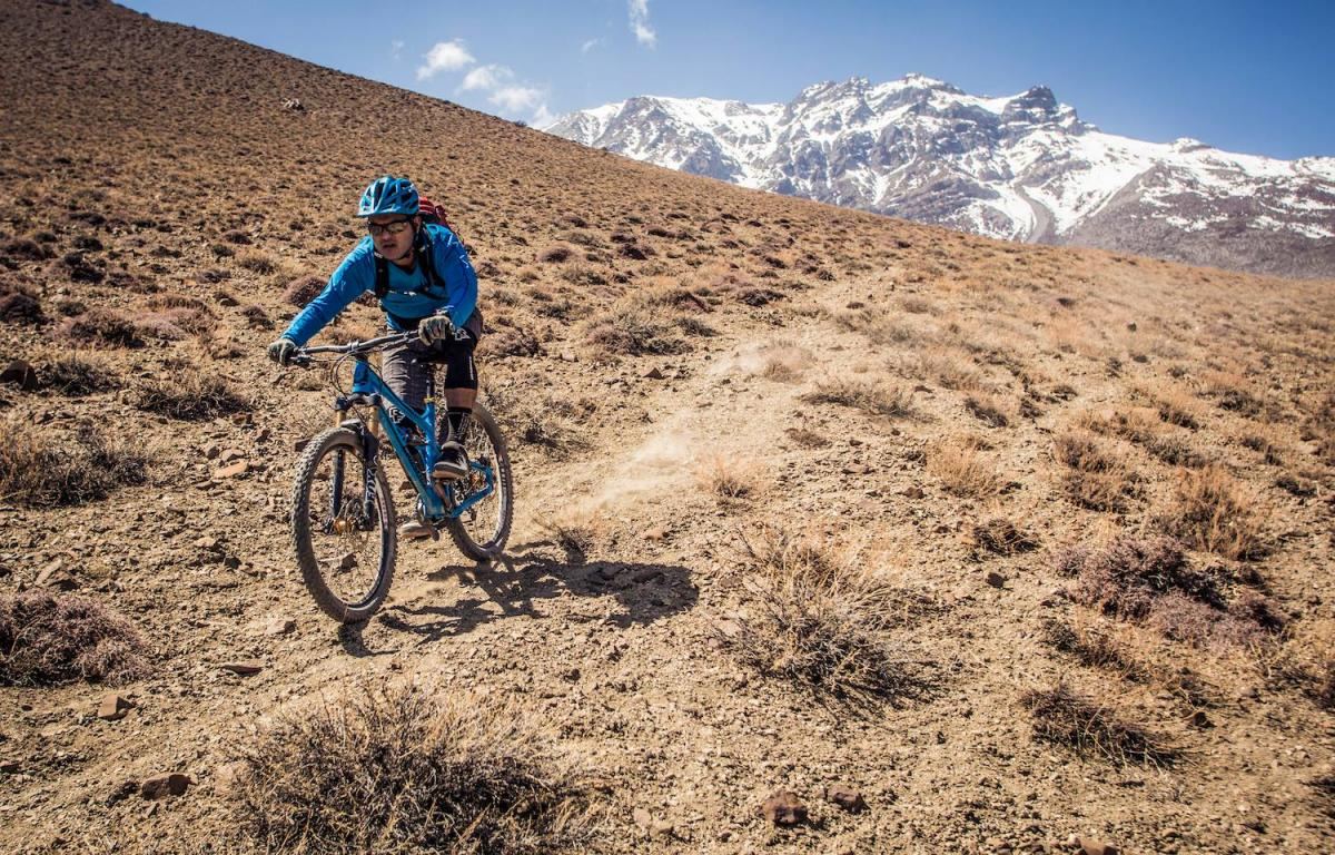Mandil Pradhan riding in Mustang, Nepal. Photo: Sebastian Doerk.