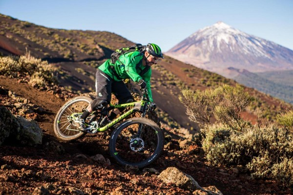 Riding the new Cannondale Trigger. Photo courtesy of Cannondale.