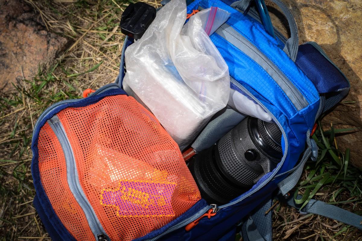 Room for tools, food, and a big fat heavy lens