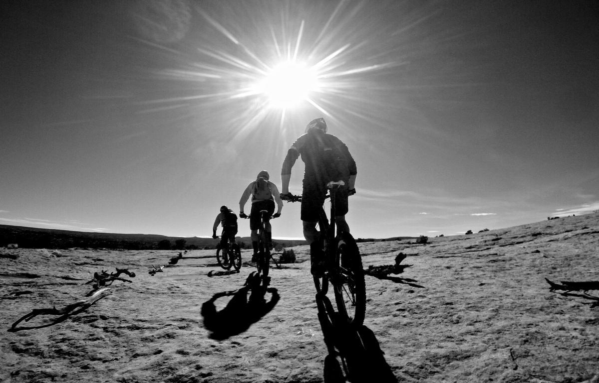 """Sunnin' ourselves on the Navajo Rocks Loop."" Moab, Utah. Photo: Erik Proano."