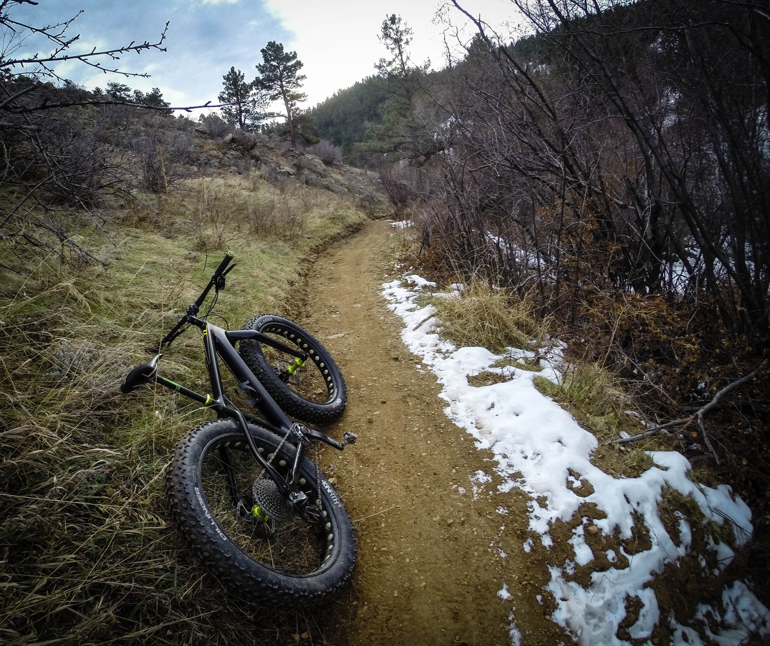 """A section of the trail that is """"dolphin smooth"""", i.e. lacketh of any gnar or gnar-like features"""